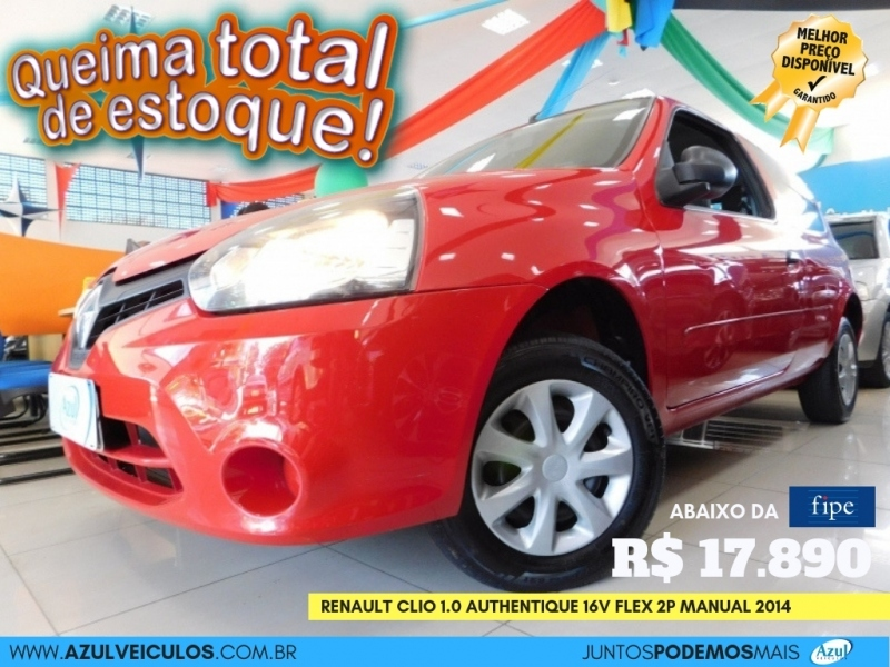 CLIO1.0 AUTHENTIQUE 16V FLEX 2P MANUAL